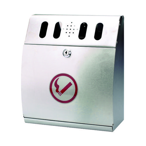 Sterling Curved Wall Mounted Ash Bin Steel 3.7 Litre CIGBINCRV