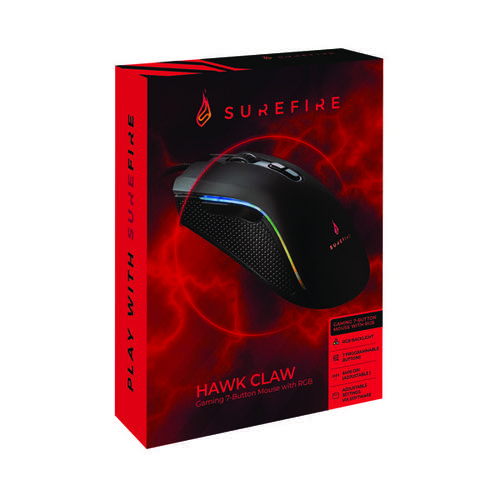 SureFire Hawk Claw Gaming 7-Button Mouse with RGB 48815