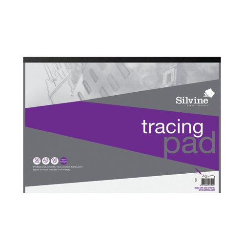 Silvine Professional Tracing Pad 50 Sheets A3 A3TPR