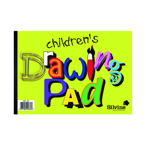 Silvine Children's Drawing Pad A4 (Pack of 12) 420
