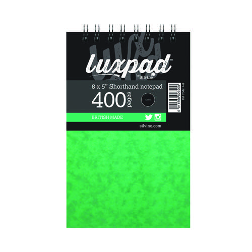 Silvine Luxpad Spiral Shorthand Notebook 400 Pages 127x203mm (Pack of 6) 441-T