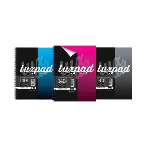 Silvine Luxpad Hardback Wirebound Notebook A5 (Pack of 12) THBA5AC