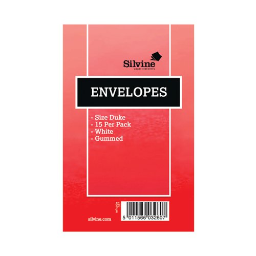 Silvine Duke-Sized Pre-Glued Envelopes 16 (Pack of 36) 317