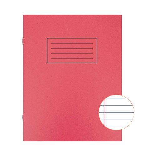 Silvine Exercise Book Ruled 229x178mm Red (Pack of 10) EX101