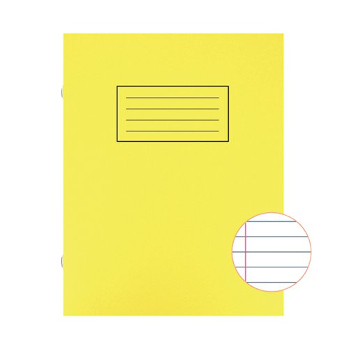 Silvine Exercise Book Ruled 229x178mm Yellow (Pack of 10) EX103