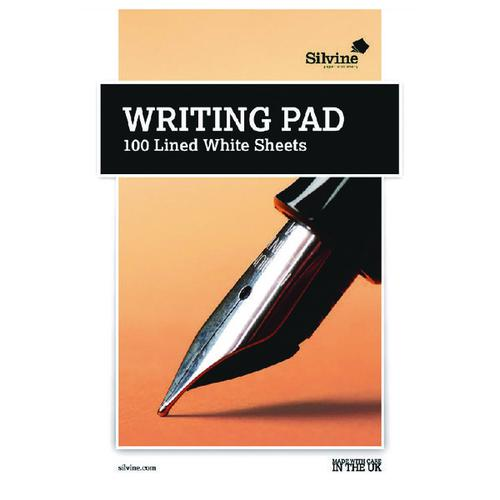 Silvine Medium Ruled Writing Pad 100 Sheet (Pack of 10) 1720