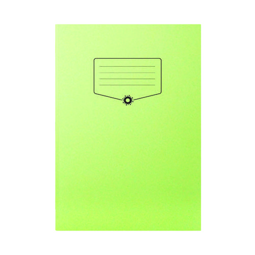 Silvine Bacoff Exercise Book Ruled with Margin A4 Green (Pack of 10) EXBAC143