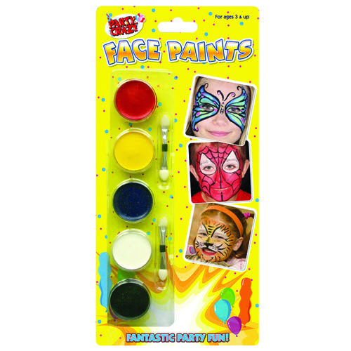 Tallon 5 Colour Face Paints (Pack of 12) 5111