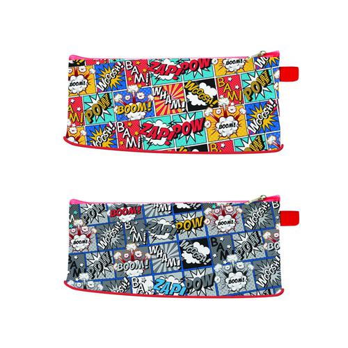 Just Stationery Comic Pencil Case (Pack of 12) 6856