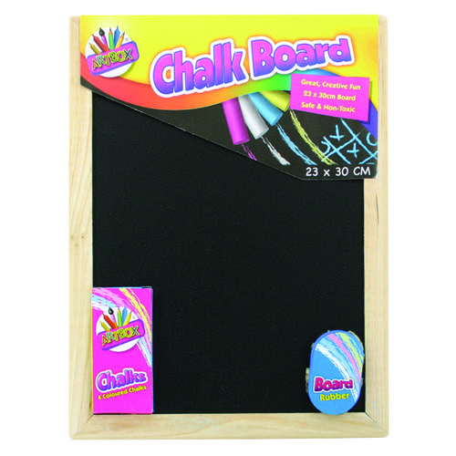 Chalk Board Set With Chalk Board Chalks And Eraser (Pack of 12) 5249