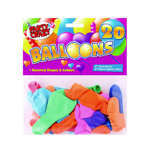 Balloons Assorted Shapes And Colours (Pack of 240) 5701