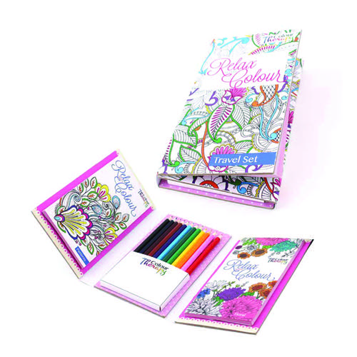 Tallon Adult Colouring Book Travel Set (Pack of 6) 6844