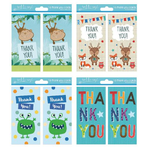 Tallon 4 Design Boy Thank You Cards (Pack of 192) 4483