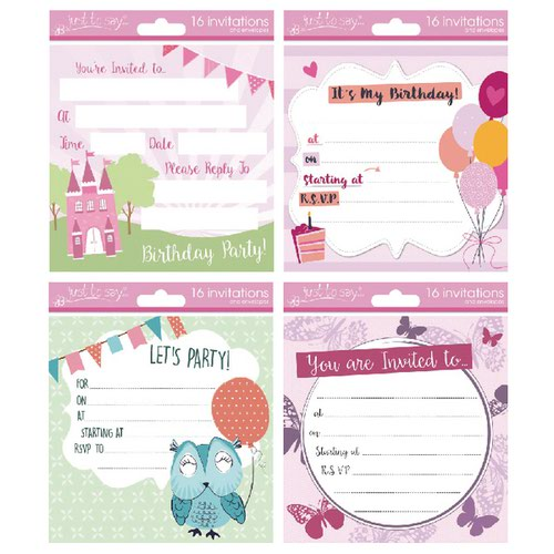 Tallon Girl Designs Invitation Cards (Pack of 192) 4484