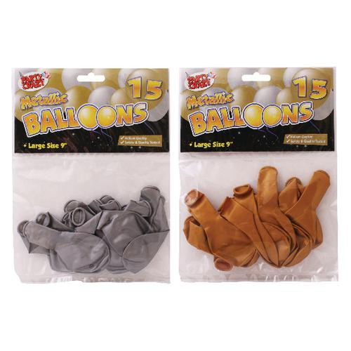 Tallon Metallic 9-Inch Round Balloons (Pack of 180) 5702