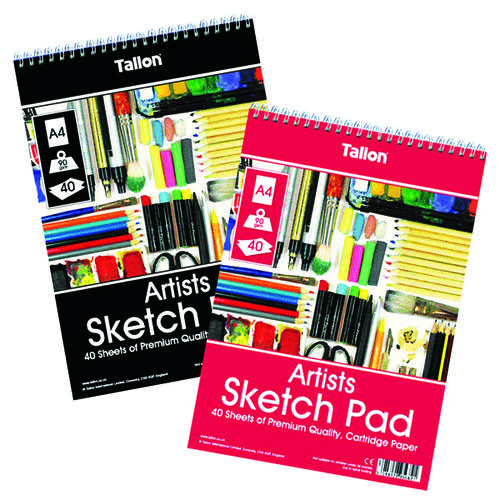 Tallon Artist Sketch Pad 40 Sheet A4 (Pack of 6) TAL05682