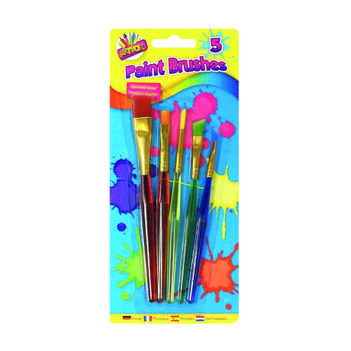 Artbox 5 Assorted Paint Brushes (Pack of 12) 5453