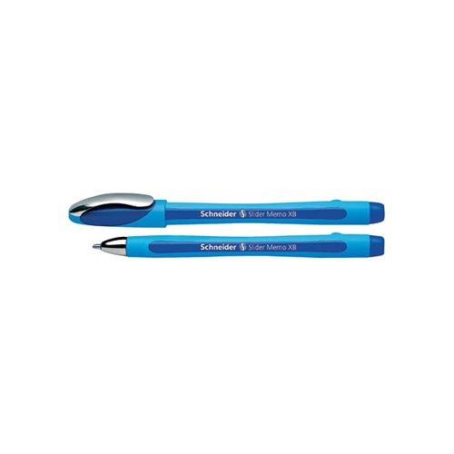 Schneider Slider Memo XB Ballpoint Pen Large Blue (Pack of 10) 150203
