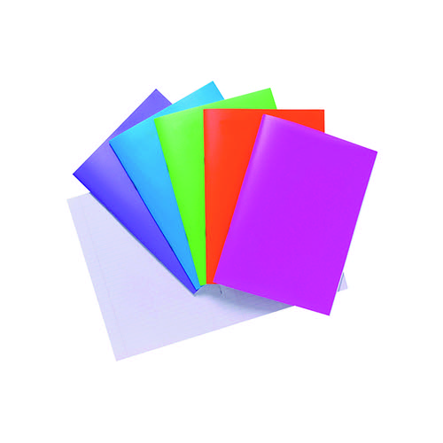 Polypropylene Covered Notebooks A4 40 Sheets Assorted (Pack of 10) 301550