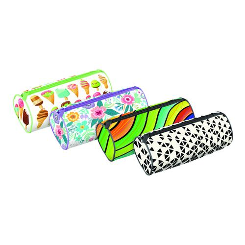 Fashion Cylinder Pencil Case Assorted (Pack of 12) 301653