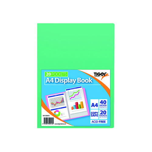 Display Book A4 20 Pocket Assorted Pastel (Pack of 10) 302012