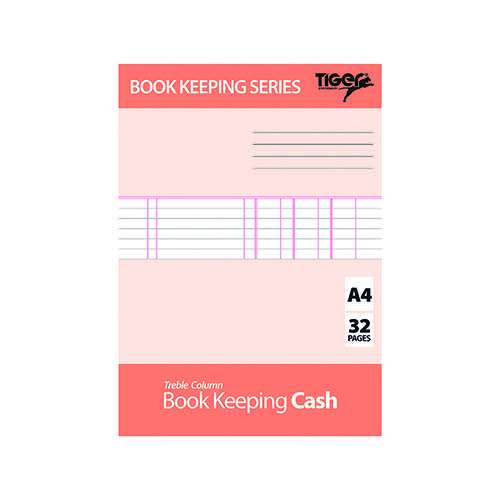 Book Keeping Cash Book A4 (Pack of 6) 302299 Accounts Books TGR02299