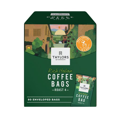 Taylors Rich Italian Coffee Bags (Pack of 80) 6125