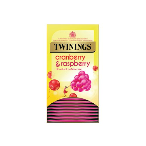 Twinings Cranberry Raspberry and Elderflower Tea Bags (Pack of 20) F09614