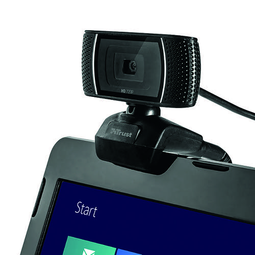 Trust Trino HD Video Webcam (Recording in 720p, Dual Function 8 Megapixel Camera) 18679