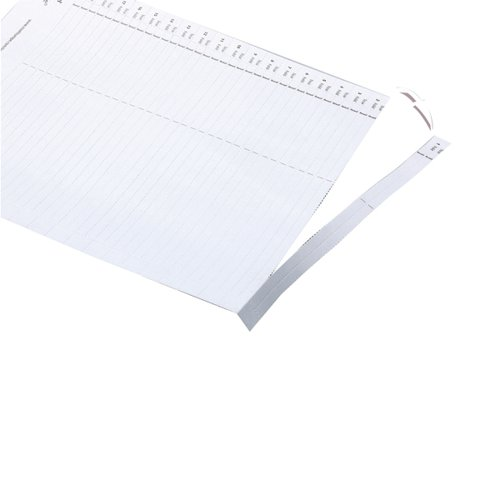 Rexel Crystalfile Lateral 275 Tab Inserts White (Pack of 57) 78370