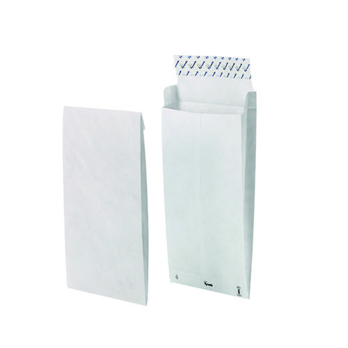 Tyvek B4 Envelope 353x250x38mm Gusset Peel and Seal White (Pack of 100) 11843