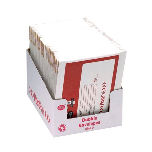 Post Office Postpak Size 0 Bubble Envelopes (Pack of 40) 41629