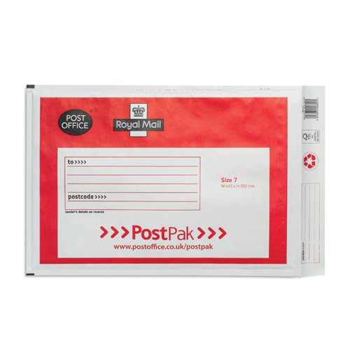Post Office Postpak Size 7 Bubble Envelopes (Pack of 40) 41640