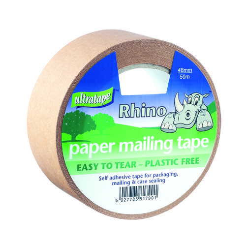 Ultratape Rhino Paper Mailing Tape 48mm x 50m (Pack of 18) PM02124850RH
