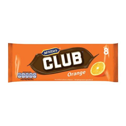 McVities Club Orange 30 (Pack of 8) 16726