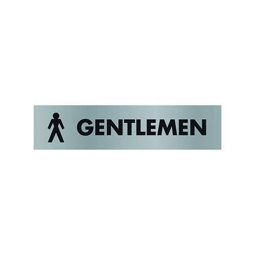 Acrylic Sign Gentlemen Aluminium SR22355