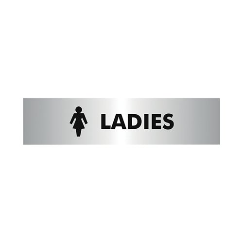 Acrylic Sign Ladies Aluminium 190x45mm SR22357