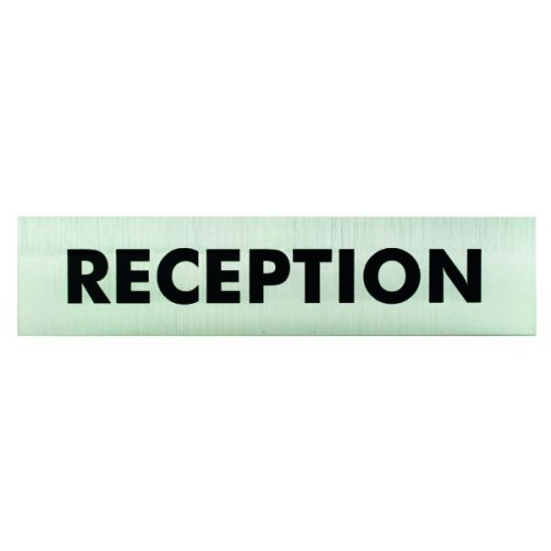 Acrylic Sign Reception Aluminium 190x45mm SR22364