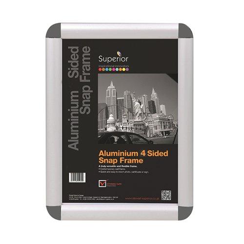 Stewart Superior Snap Frame A4 Grey ROUNDGREYA4