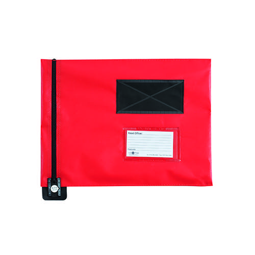 GoSecure Flat Mailing Pouch 286x336mm Red FP7R
