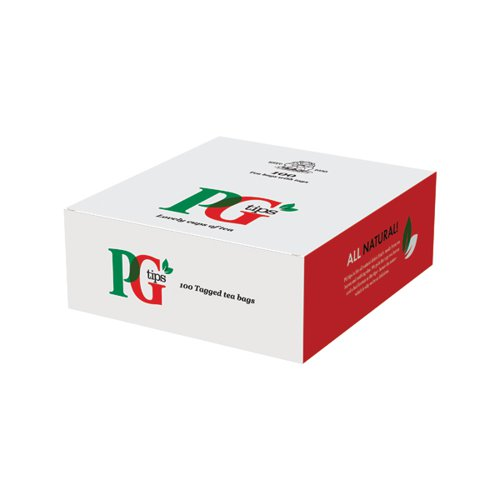 PG Tips Tagged One Cup Tea Bags (Pack of 100) 1004539