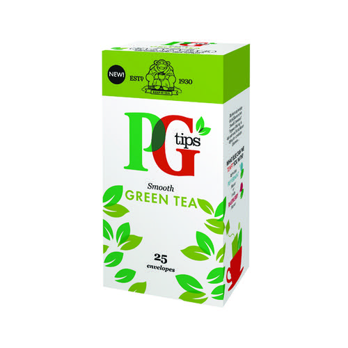 PG Tips Green Tea Envelope (Pack of 25 Tea Bags) 29013901