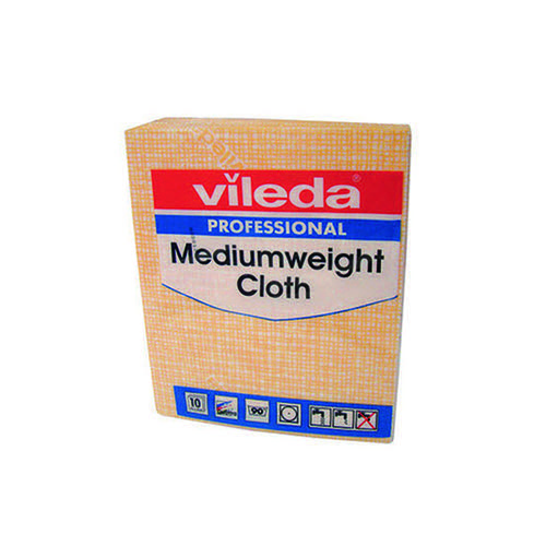 Vileda Medium Weight Cloth Yellow (Pack of 10) 106402