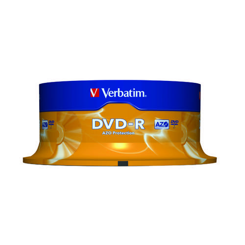 Verbatim DVD-R Colour Slim Case 4.7GB (Pack of 25) 43522