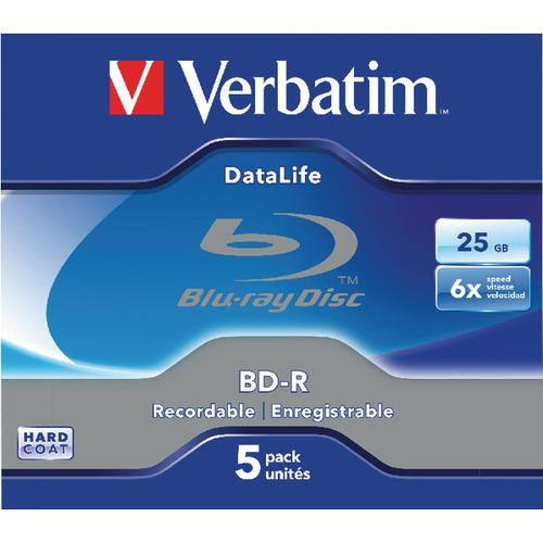 Verbatim BD-R Jewel Case 6x 25GB (Pack of 5) 43836