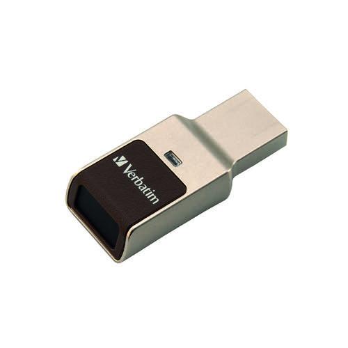 Verbatim Fingerprint Secure USB 3.0 Drive 64GB Aluminium 49338