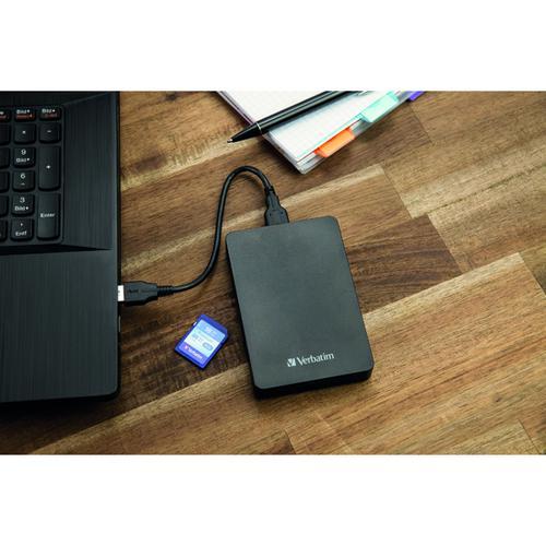 Verbatim Store n Go HDD with Card Reader 1TB + 16GB SD Card 53421