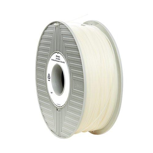 Verbatim 3D Printer Filament PLA 1.75mm 1kg Clear 55317