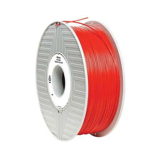 Verbatim 3D Printer Filament PLA 1.75mm 1kg Red 55320