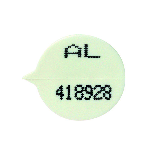 GoSecure Security Seals Numbered Round White (Pack of 500) WSealNO